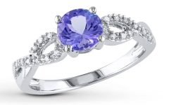 Diamond Tanzanite Engagement Rings