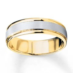 Two Tone Men Wedding Bands