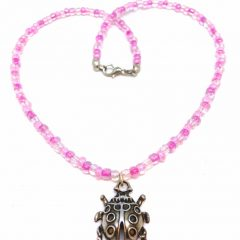Pink Ladybird Pendant Necklaces