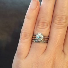 Bezel Set Engagement Rings With Wedding Bands
