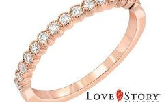 Diamond Vintage-style Anniversary Bands in Rose Gold