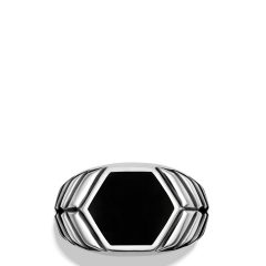 Chevron Signet Rings