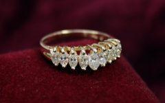 7 Marquise Diamond Anniversary Rings