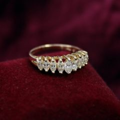 7 Marquise Diamond Anniversary Rings