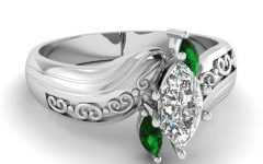 Emerald And Diamond Wedding Rings