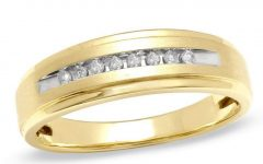 Diamond Comfort Fit Wedding Bands In 10K Gold