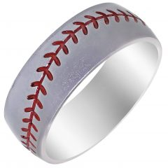 Mens Baseball Wedding Bands