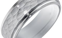 Platinum Hammered Wedding Bands