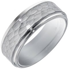 Mens Hammered Wedding Bands