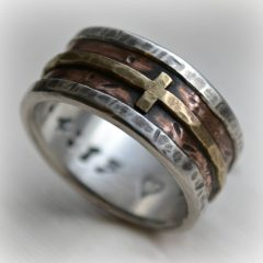 Men's Wedding Bands With Cross