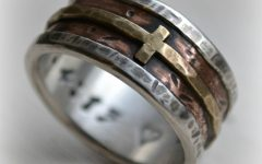 Mens Wedding Bands with Cross