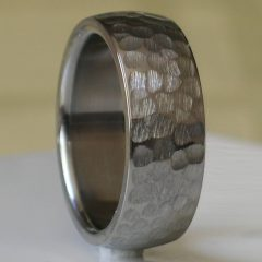 Hammered Tungsten Men's Wedding Bands