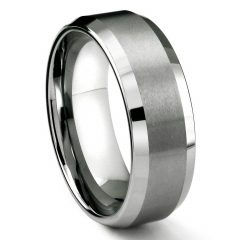 Matte Black Men's Wedding Bands