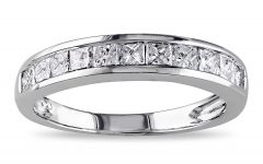 Princess-cut Diamond Anniversary Bands in White Gold