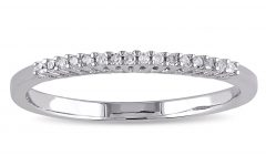 Diamond Accent Anniversary Bands in Sterling Silver