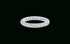 Micropavé Diamond Dome Wedding Bands