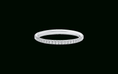 Micropavé Diamond Narrow Wedding Bands