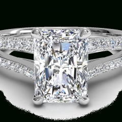 Rectangular Radiant Cut Diamond Engagement Rings