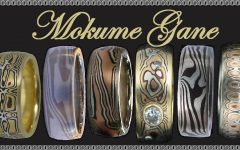 Mokume Mens Wedding Bands