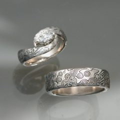 Mokume Engagement Rings
