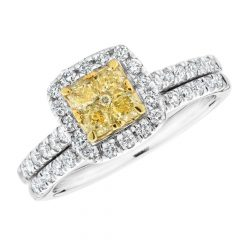 Yellow Diamond Wedding Sets