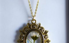 Sparkling Daisy Flower Locket Element Necklaces