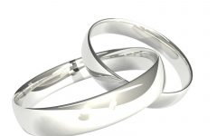 Silver Wedding Anniversary Rings