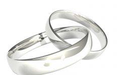 Silver Wedding Anniversary Rings