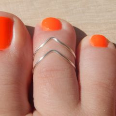 Chevron Toe Rings