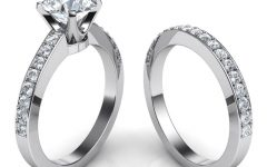 Engagement Rings And Wedding Band Set