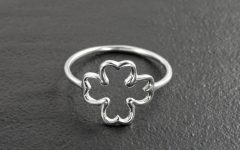 Lucky Four-Leaf Clover Open Rings