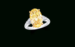 Oval-shaped Yellow Diamond Rings