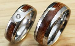 Tungsten Wedding Bands With Wood Inlay