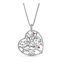 Family Tree Heart Pendant Necklaces