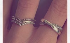 Sparkling Wishbone Rings