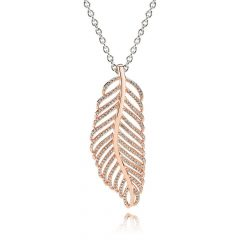 Shimmering Feather Pendant Necklaces