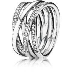 Sparkling & Polished Lines Rings