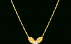Pavé Butterfly Pendant Necklaces