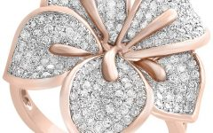 Pavé Flower Rings