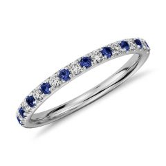 Sapphire And Diamond Wedding Rings