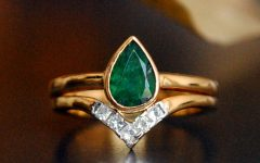 Chevron Emerald Rings