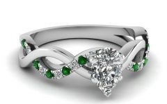 Emerald Engagement Rings White Gold