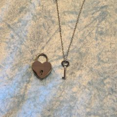 Heart-Shaped Padlock Necklaces