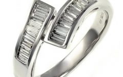 Baguette Diamond Twist Wedding Bands
