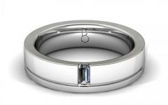 Platinum Mens Wedding Bands with Diamonds