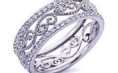 Diamond Vintage-style Anniversary Bands in Sterling Silver