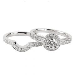 Diamond Engagement And Wedding Rings Sets