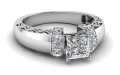 Diamond Zig-Zag Anniversary Rings In 18K White Gold