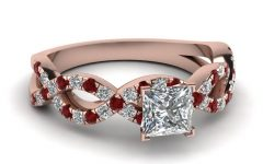 Ruby and Diamond Engagement Rings