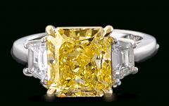 Radiant Yellow Diamond Rings